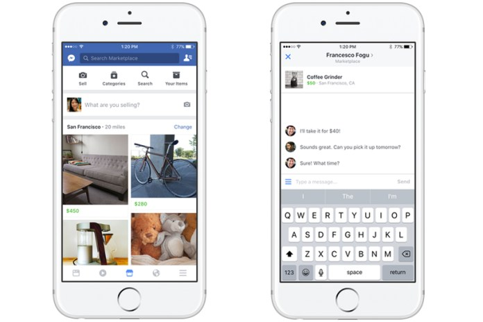 Facebook Rolls out Marketplace for Buying and Selling Goods With Those Nearby