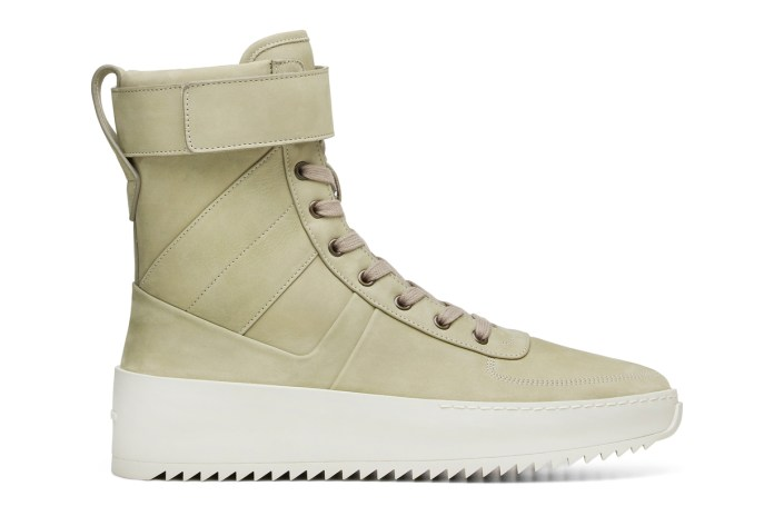 """Fear of God's Military Sneaker Gets the """"Money Green"""" Treatment"""