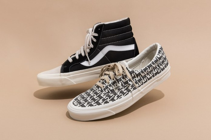 The Fear of God x Vans Era Is Set to Drop Again