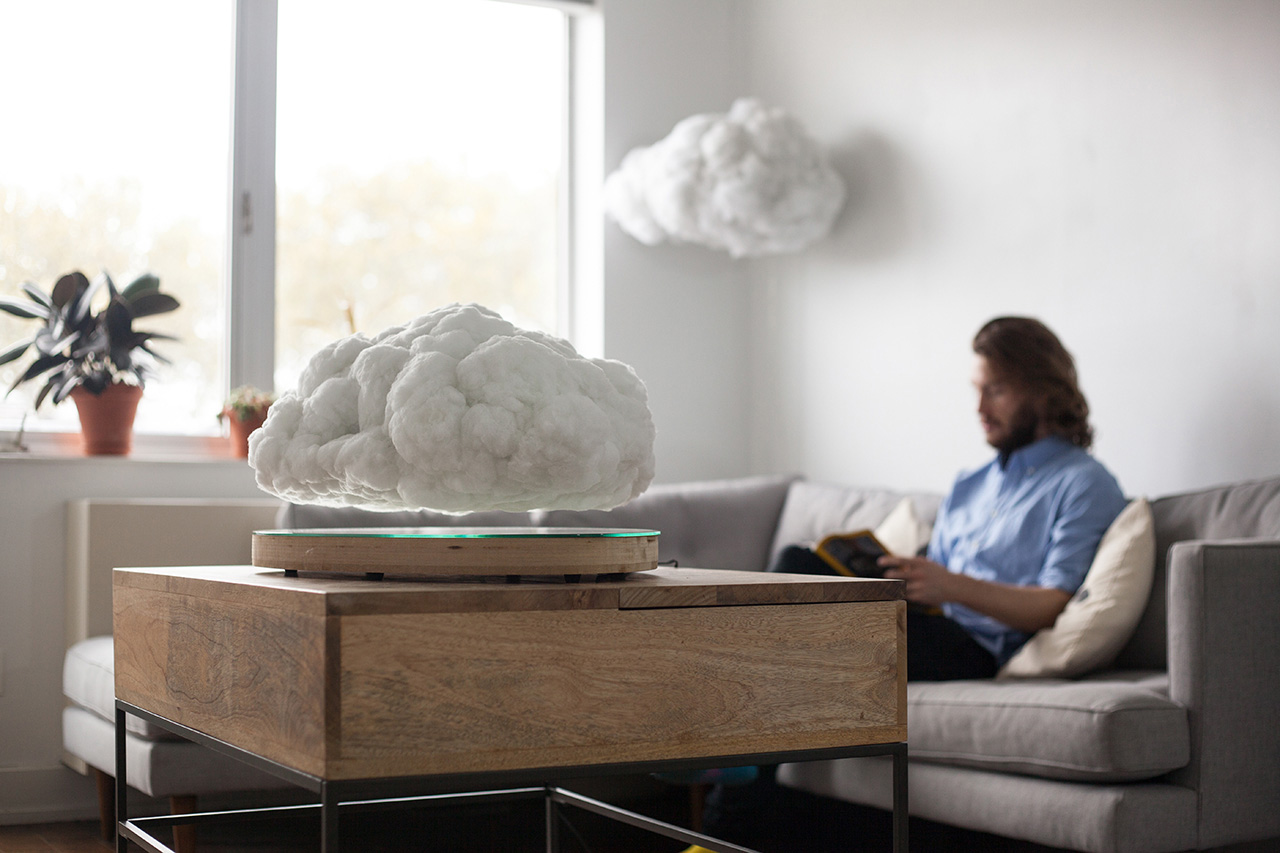 This Levitating Cloud Doubles as a Bluetooth Speaker and a Light Source