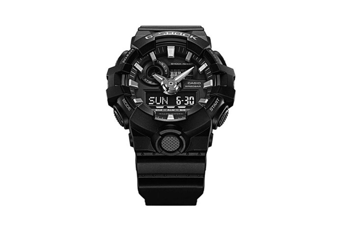 G-Shock Gets Muscular With Its New GA700 Model in Black and Red Colorways