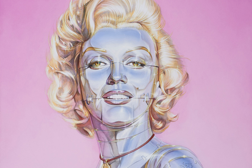"Hajime Sorayama Transforms His ""Sexy Robots"" Into Hollywood Stars for His Latest Exhibition"