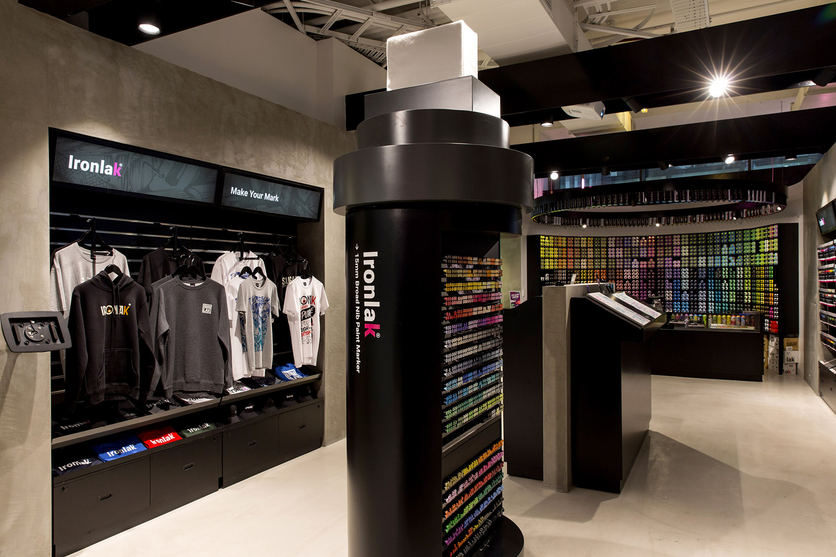 Ironlak art design sydney flagship store hypebeast for Craft stores in nyc