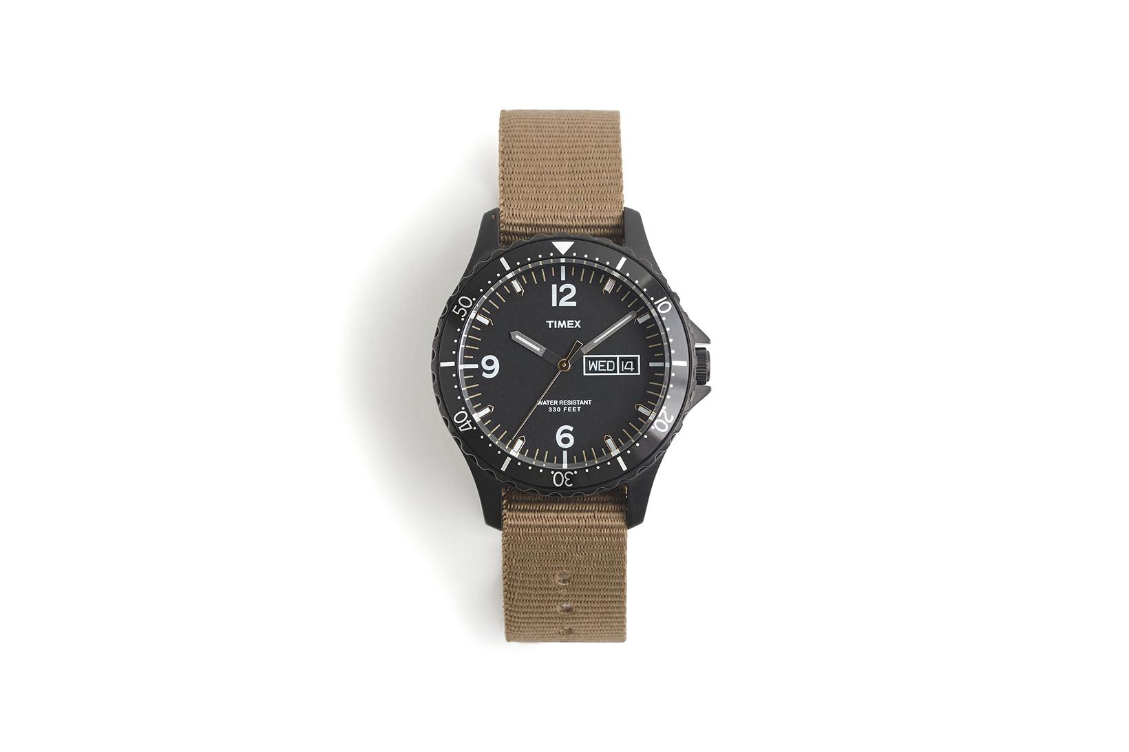 J.Crew & Timex Introduce a Black & Brown Diver