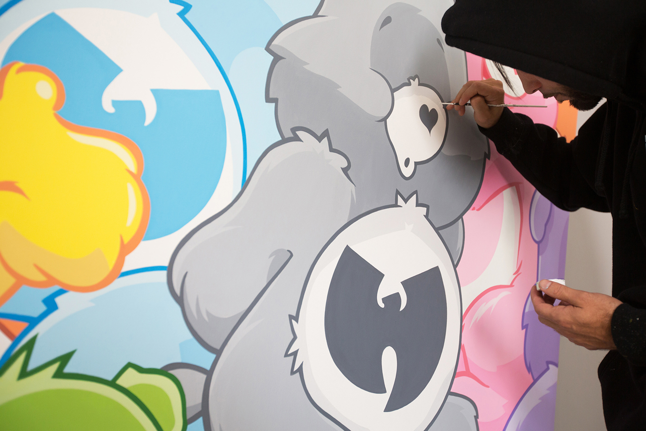 "Jerkface Connects Wu-Tang With Care Bears in His ""Saturday Morning"" Exhibition"