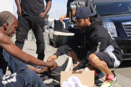 Jerry Lorenzo and Staff Hand out Fear of God Merchandise to LA's Homeless