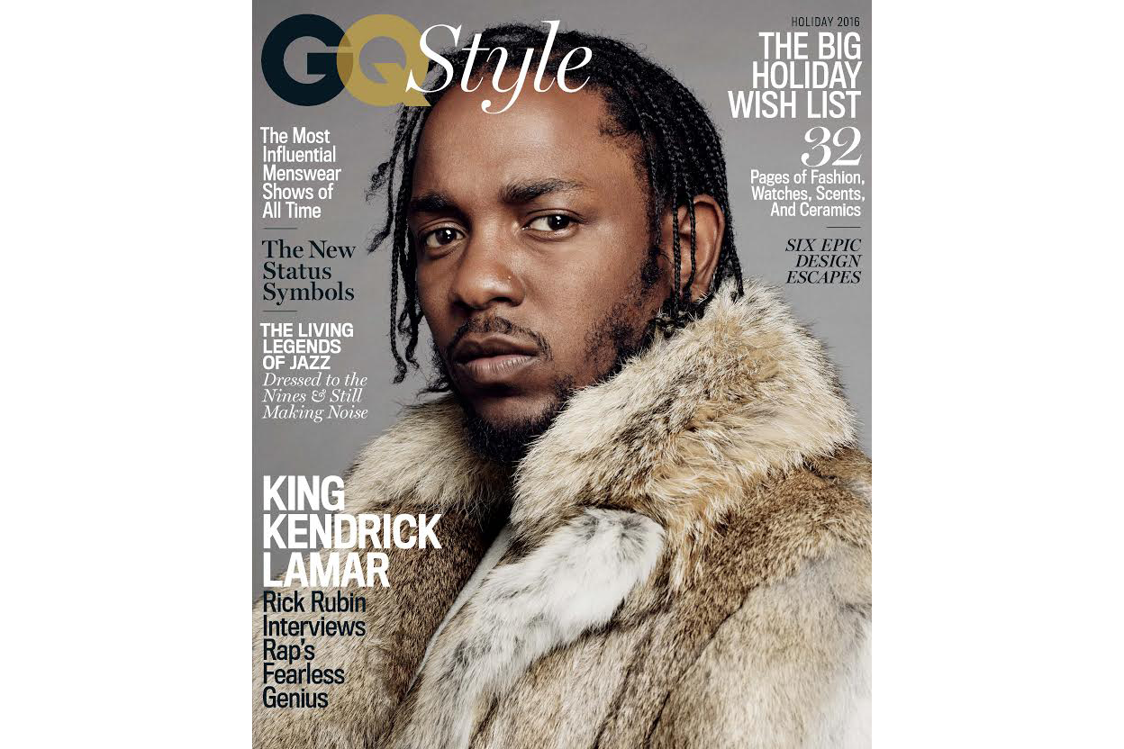 Kendrick Lamar GQ Style Magazine Cover