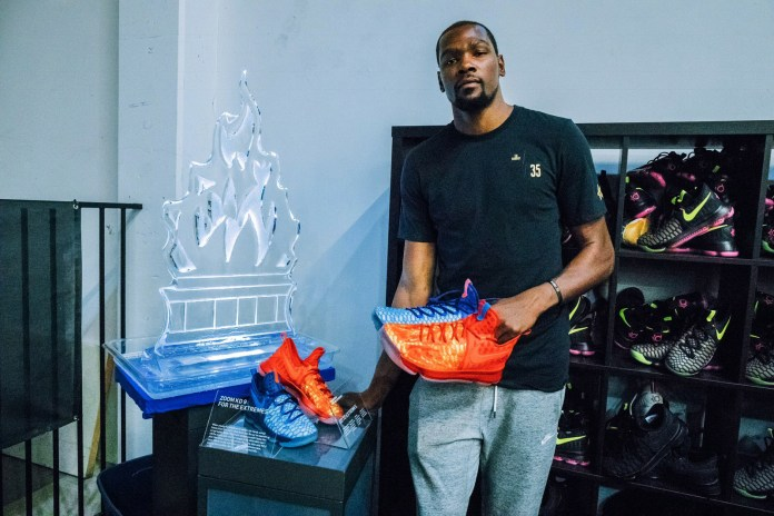 "#hypebeastkids: Kevin Durant Unveils the ""Fire and Ice"" Nike KD 9 GS"