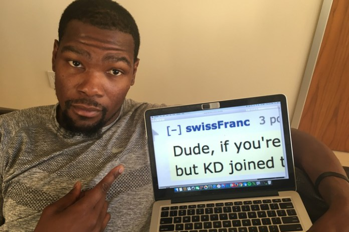 Kevin Durant Asks Reddit for Bay Area Recommendations