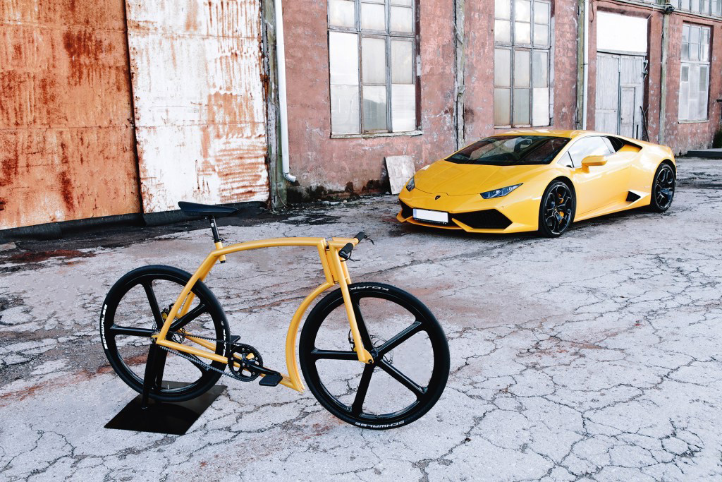 Supercar Lines Define the New Lamborghini-Inspired Viks Bicycle