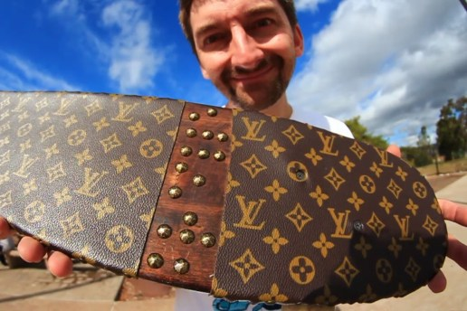 This Skateboard's Griptape Is Made From a Louis Vuitton Purse