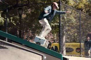 Mark Gonzales Boardslides a Tumi Trolley