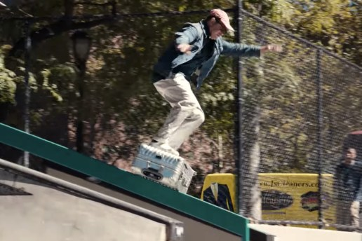 Mark Gonzales Boardslides a Tumi Trolley