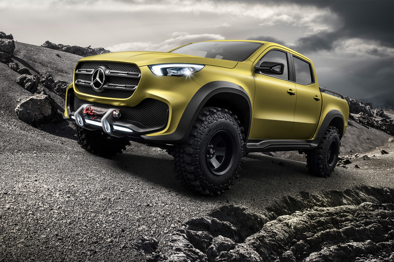 Mercedes benz x class pickup truck concept hypebeast for Mercedes benz trucks