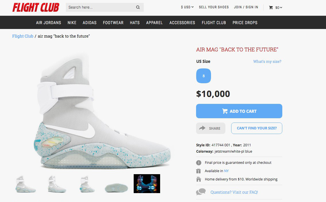 2011 nike mag for sale