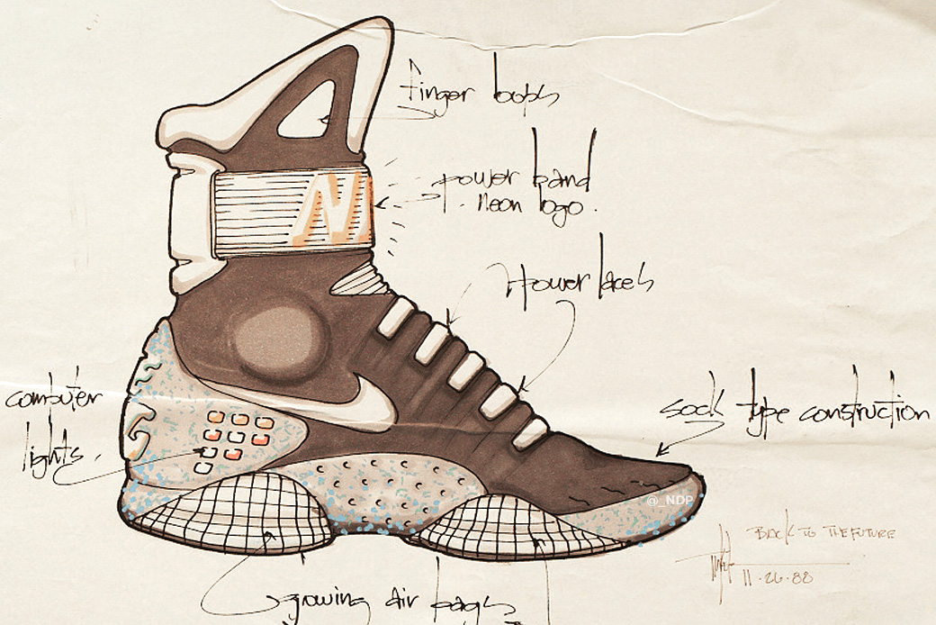 Here Are Tinker Hatfield's Original Nike Air MAG Design Sketches