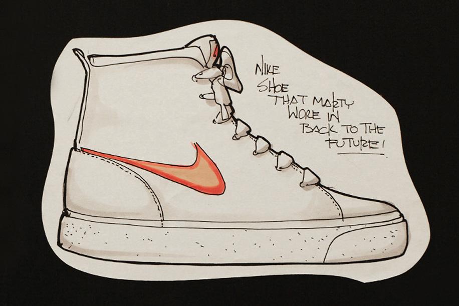 Tinker Hatfield Original Nike Air MAG Design Sketches - 1761987