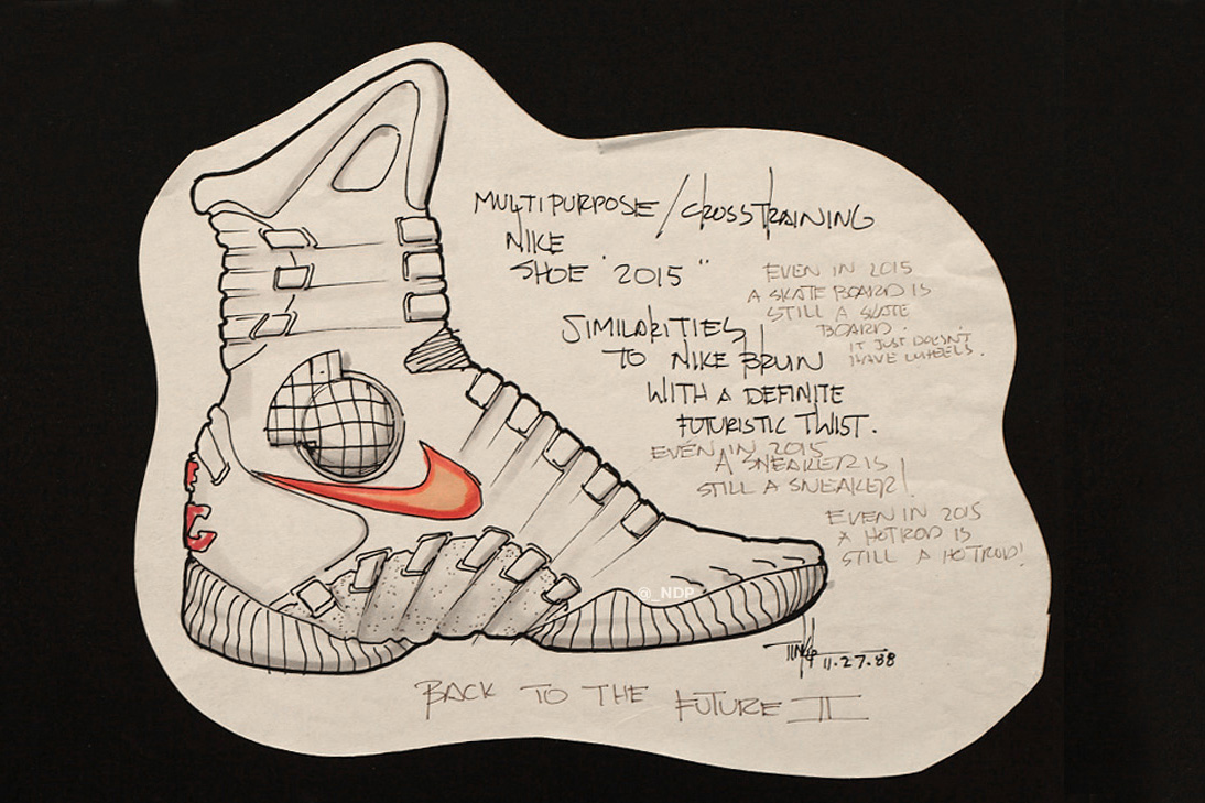 Tinker Hatfield Original Nike Air MAG Design Sketches - 1761988