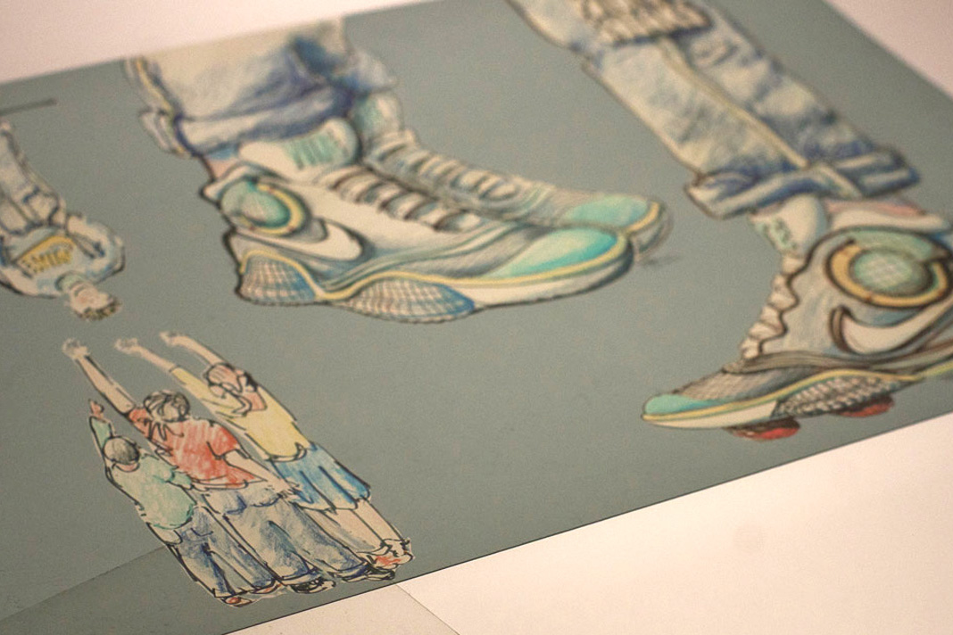 Tinker Hatfield Original Nike Air MAG Design Sketches - 1761989
