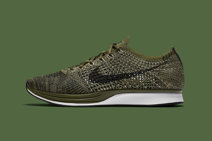 """The Acclaimed Nike Flyknit Racer Gets a """"Rough Green"""" Treatment"""