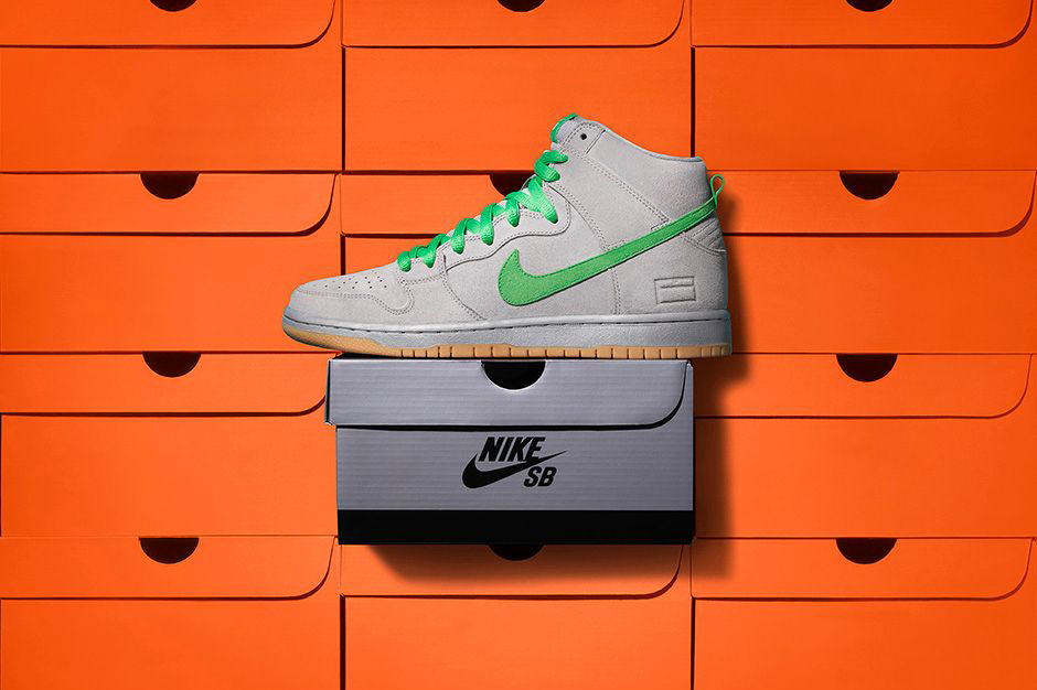 """Nike SB Unveils Its """"Gray Box"""" Edition of the Dunk High"""