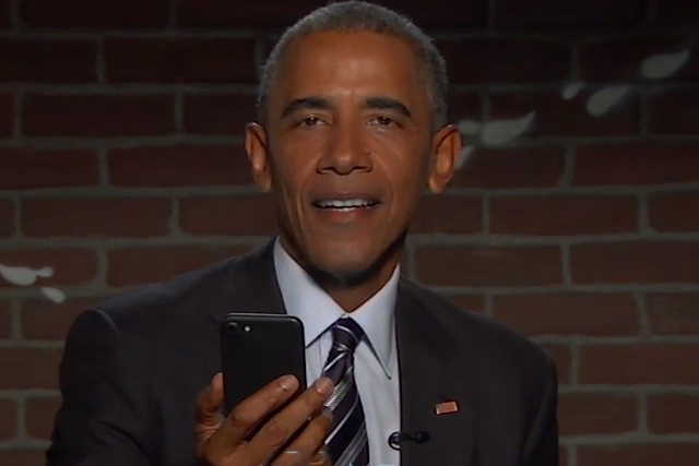 Picture of President Obama Returns to Read Mean Tweets About Himself on 'Jimmy Kimmel Live'