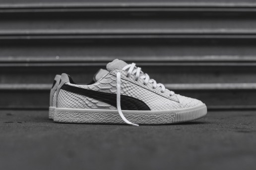 PUMA's Clyde Silhouette Dons an Italian Snakeskin Upper