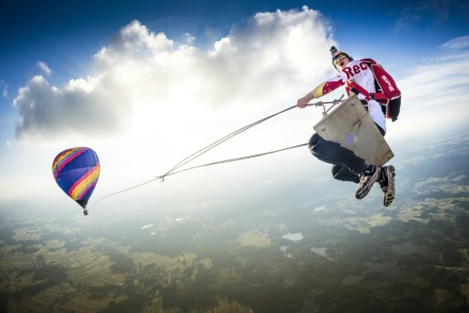 Red Bull Creates the World's Largest Swing Using Hot Air Balloons