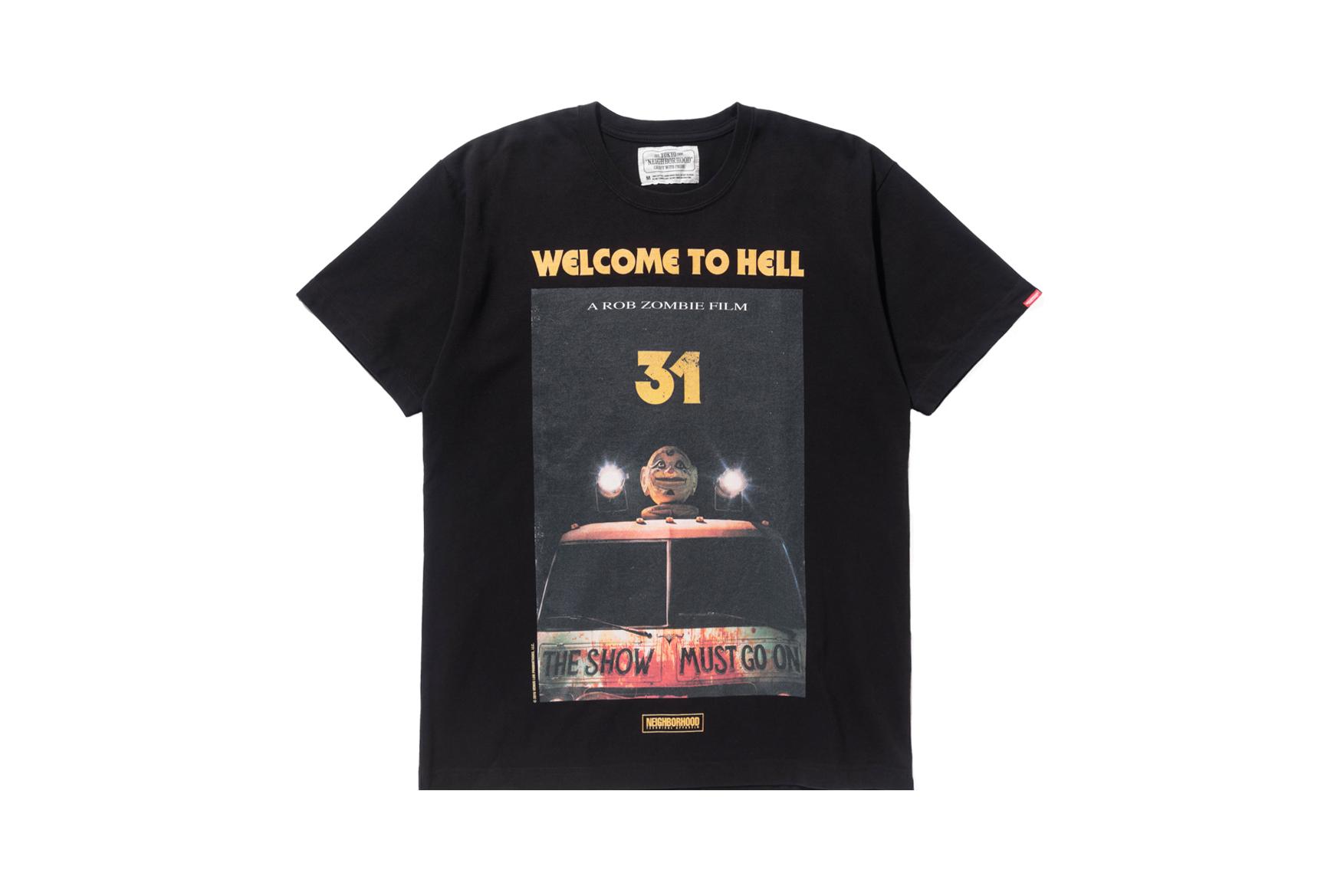 "Rob Zombie x NEIGHBORHOOD Release Nightmarish ""WELCOME TO HELL"" T-Shirt"