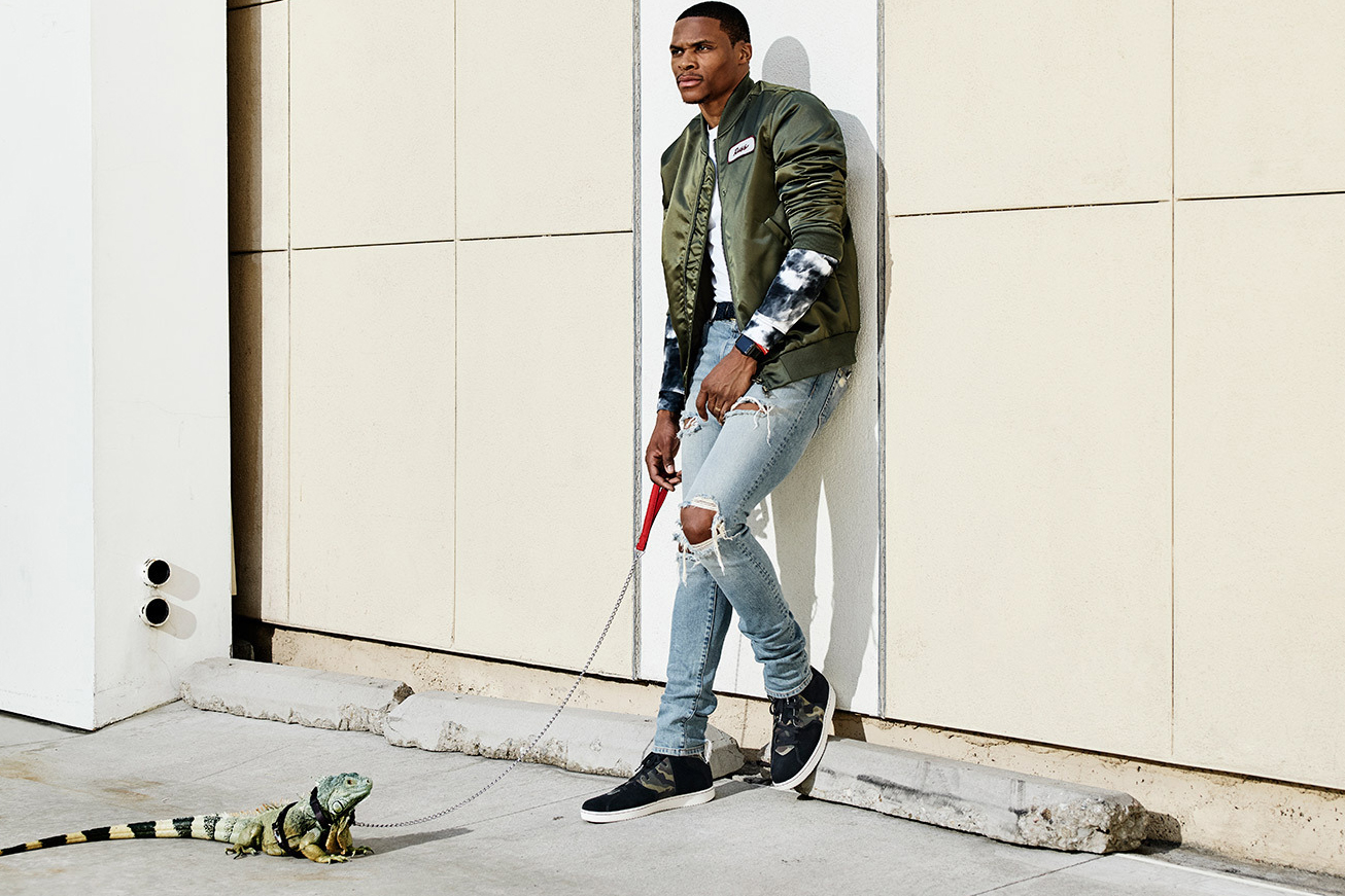 Russell Westbrook and His Pet Lizard Star in Lookbook for New Lifestyle Jordan Range