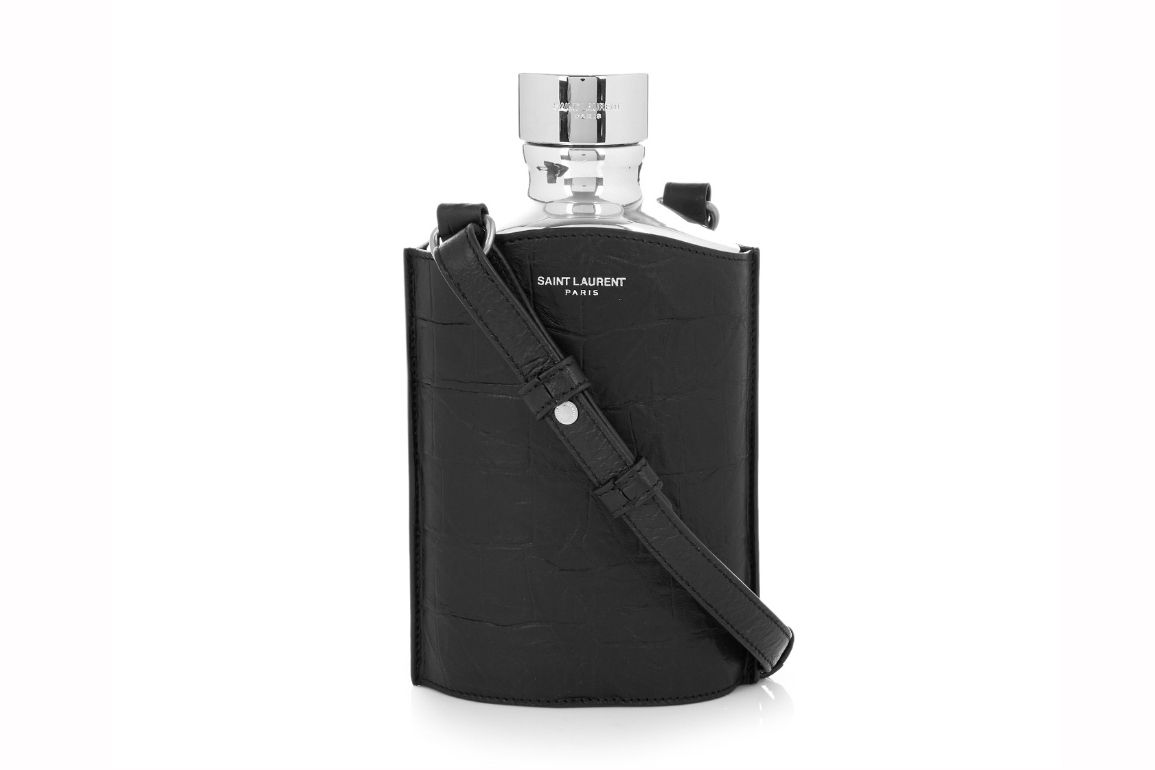 Saint Laurent's Crocodile Hip Flask Will Have You Drinking in Style