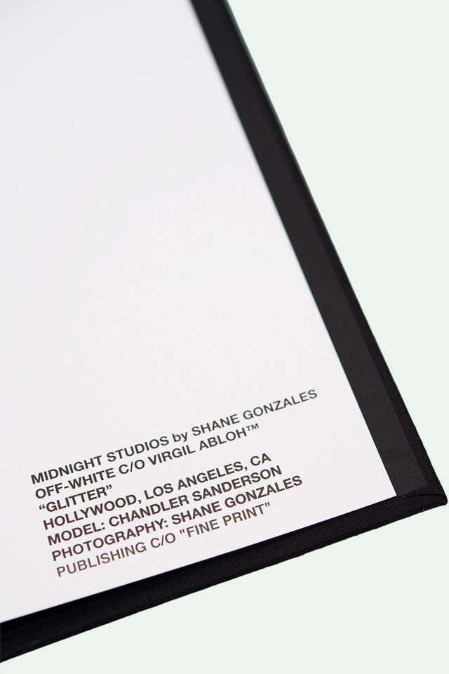 Shane Gonzales MIDNIGHT STUDIOS OFF-WHITE Photography Book - 1765742