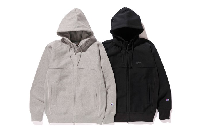 This Stüssy x Champion Hoodie Is the Perfect Fall Staple