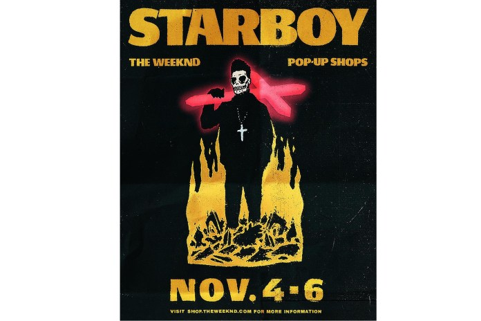 The Weeknd Announces 'Starboy' Pop-Up Shops