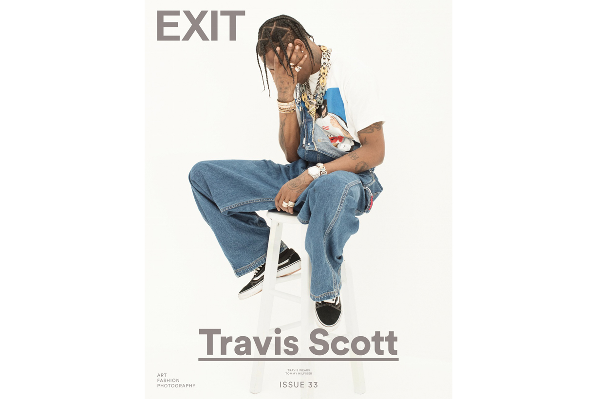 Travis Scott Rocks Supreme, Stone Island and More in New 'EXIT' Magazine Editorial