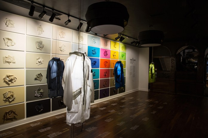 UBIQ x Stone Island 'A Presentation of Garment Dyed Expertise' Installation