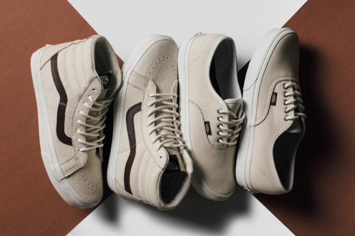 """Vans Introduces Its """"Blanc de Blanc"""" Leather Collection"""