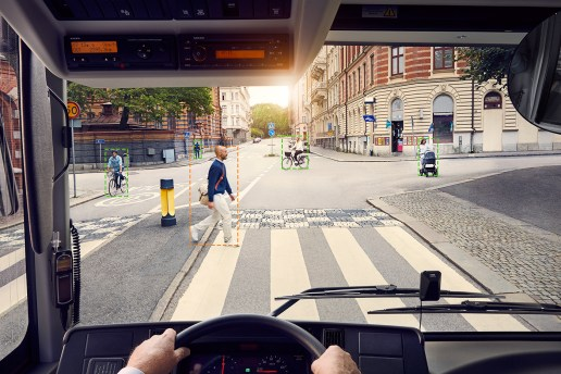 Volvo Creates an E-Bus Which Detects and Honks at Oblivious Pedestrians