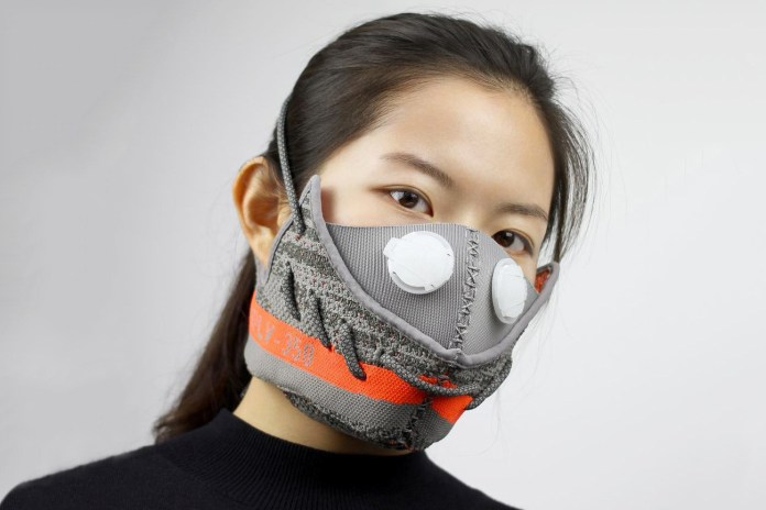This Designer Is Cutting up Yeezy Boosts and Turning Them Into Masks