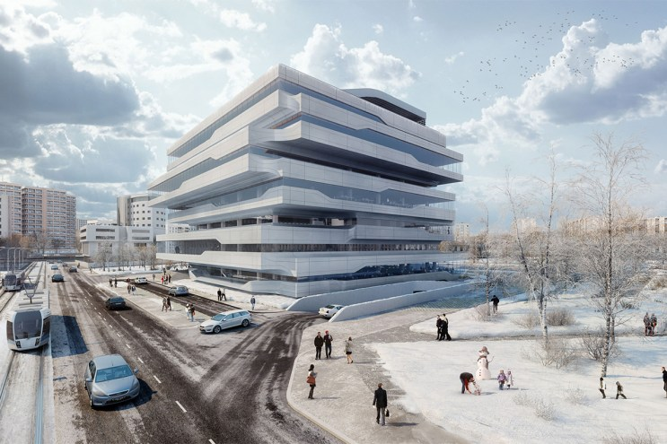Take a Virtual Tour of Zaha Hadid's Dominion Office Building in Moscow