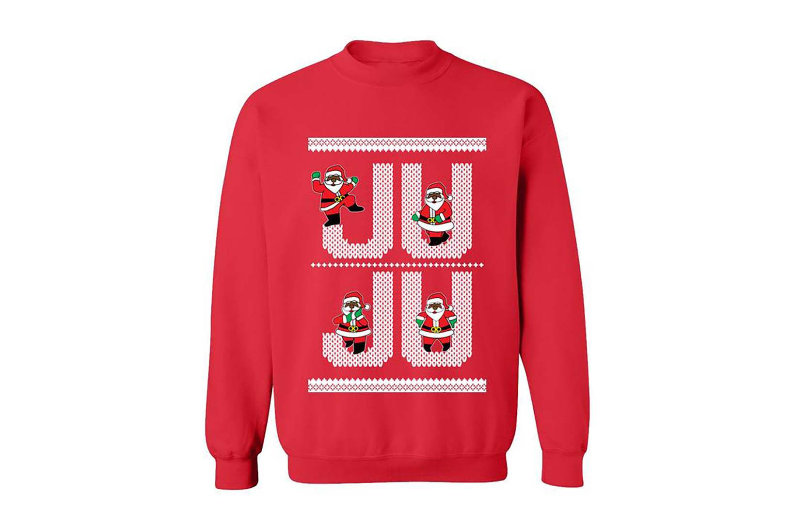 2 Chainz 2016 Dabbin' Santa Jumpers In Black Red Green White