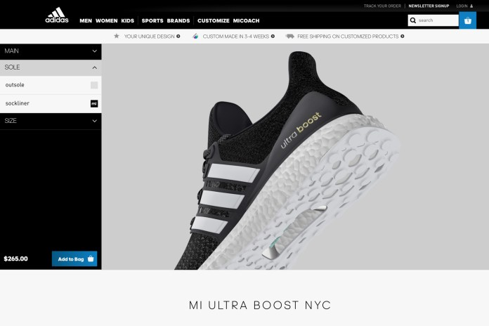 The adidas UltraBOOST Finally Gets mi adidas Customization Service