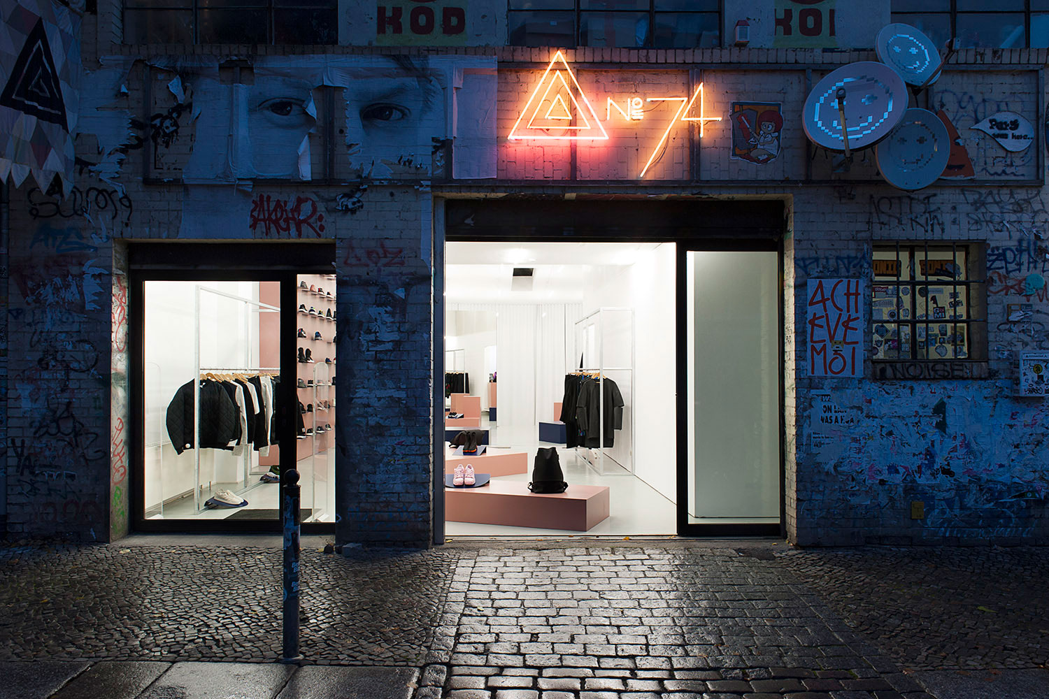 adidas redesigs no74 concept store in berlin hypebeast. Black Bedroom Furniture Sets. Home Design Ideas