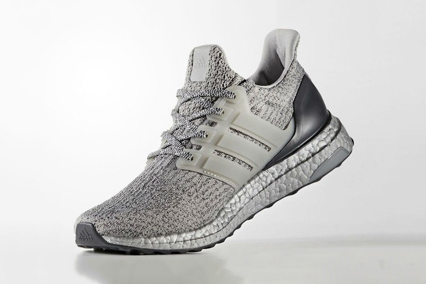 adidas UltraBOOST 3.0 Silver Colorway Three Stripes BOOST Technology TPU Cage - 1807637