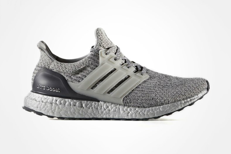 adidas UltraBOOST 3.0 Silver Colorway Three Stripes BOOST Technology TPU Cage - 1807639