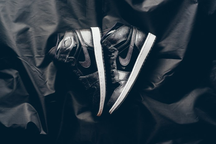The Air Jordan 1 Gets Dressed in Black Patent Leather