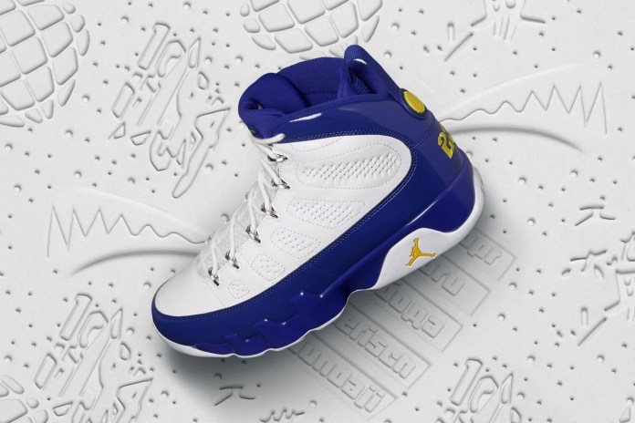 "Jordan Brand Pays Homage to the Black Mamba With Air Jordan 9 ""Tour Yellow"""