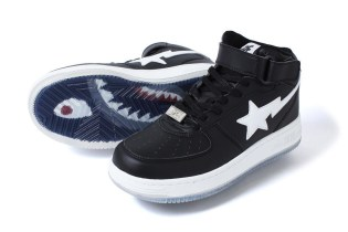 BAPE Releases New Shark-Soled BAPESTA MID & Other Footwear Goodies