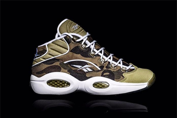 BAPE Assists in Celebrating the 20th Anniversary of the Reebok Question Mid