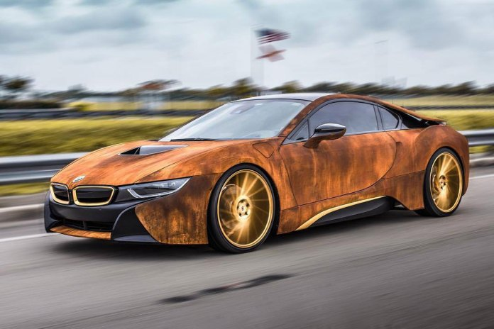 This Customized BMW i8 Features a Rusty Exterior